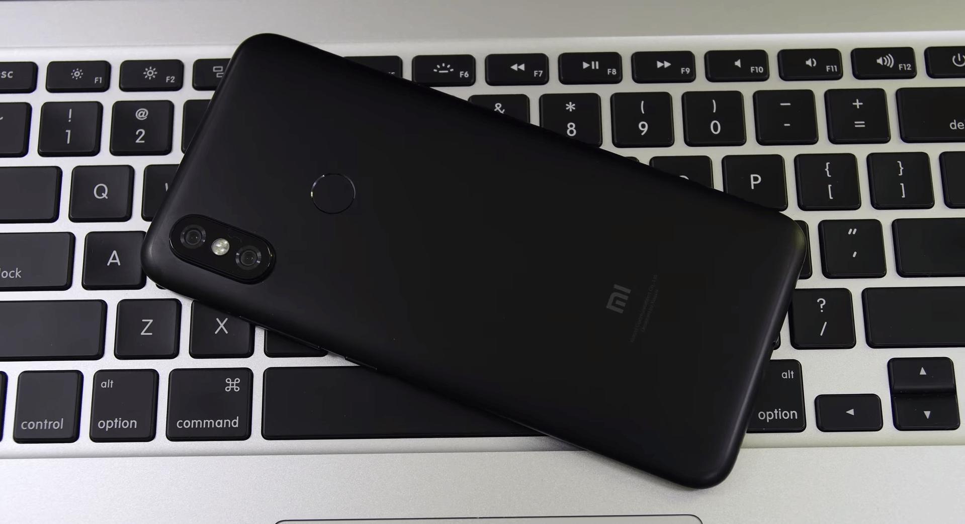 De achterkant van de Xiaomi Mi 6X