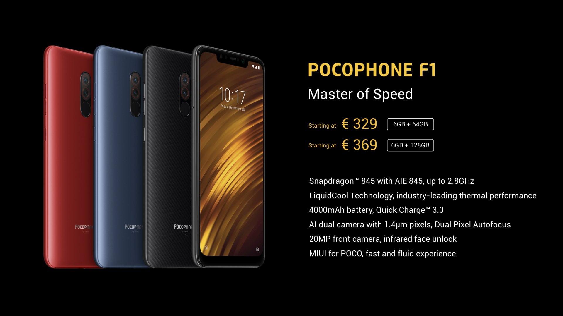 Xiaomi Pocophone F1 prijs Nederland