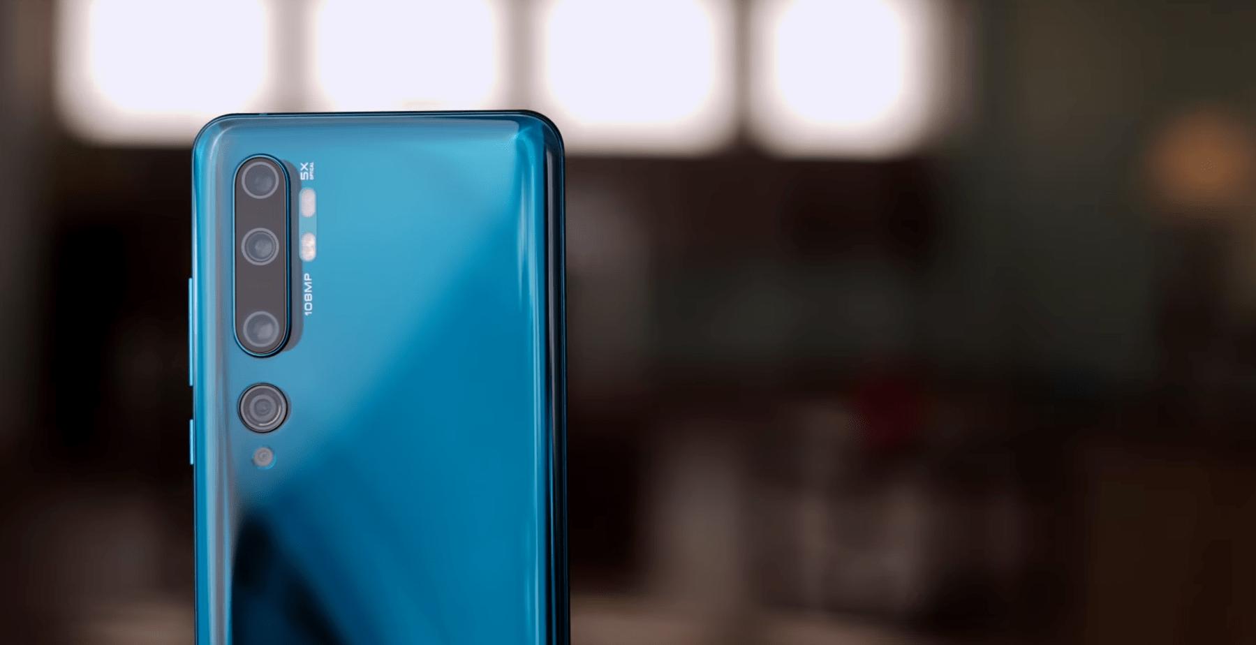 Xiaomi Mi Note 10 achterkant